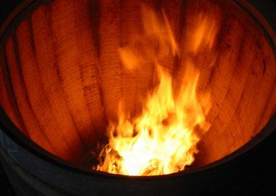 historique - du feu dans un tonneau